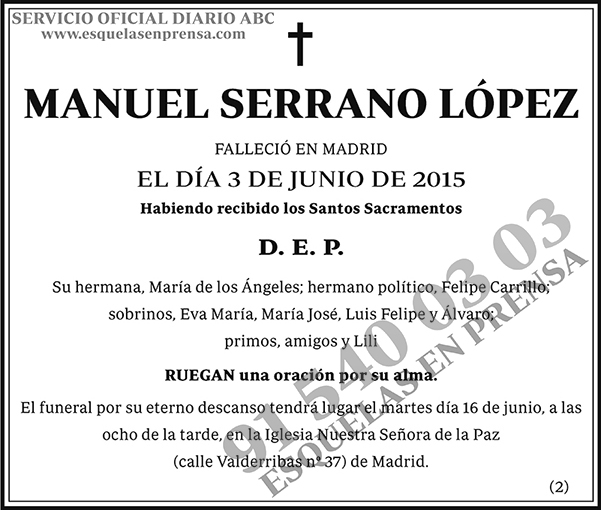Manuel Serrano López